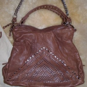 JUNIOR DRAKE PURSE / DUST BAG ~ LEATHER / STUDS